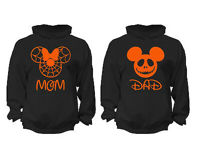 2 FOR 1 SALE: Halloween Couples Matching Hoody soft Black Unisex Hoodie S-6X](Couples For Halloween)