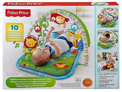 Mattel Fisher-price Rainforest-freunde Spieldecke 3in1 Krabbeldecken Spielbögen