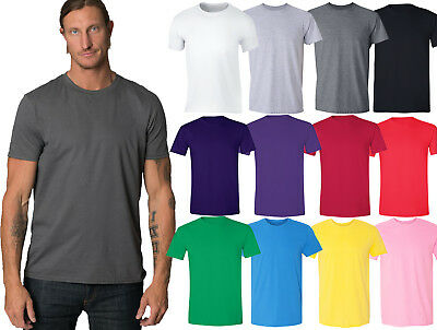 Men / Unisex Crewneck Plus Size Basic T-shirt Extra Soft 100% Cotton 2X-6X - Plus Size Men