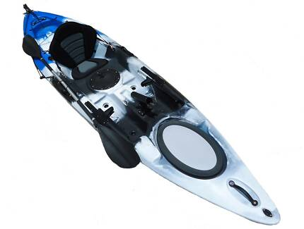 NEW 3.6M SINGLE SIT ON OCEAN FISHING KAYAK CANOE SURF SKI PACKAGE St Marys Penrith Area Preview