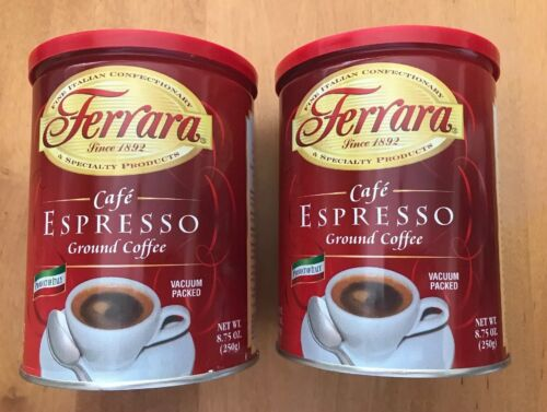 Ferrara Cafe Espresso Ground Coffee Vacuum Packed 8.75oz Lot Of 2 (MC)