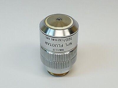 Leitz Npl Fluotar 100x1.32-0.60 1600.17 Oil Microscope Objective