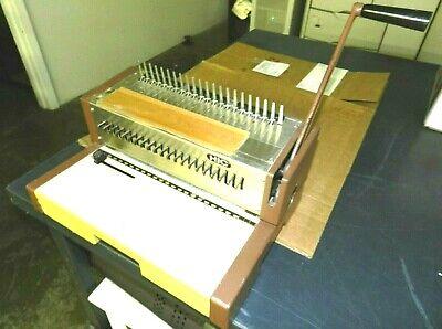 Vintage Hic Hpb-210 Gbc - Manual Plastic Comb Binding Machine