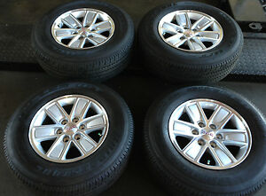 17'' 2014 GMC SIERRA 1500 OEM FACTORY ALLOY WHEELS RIMS TIRES 18 20