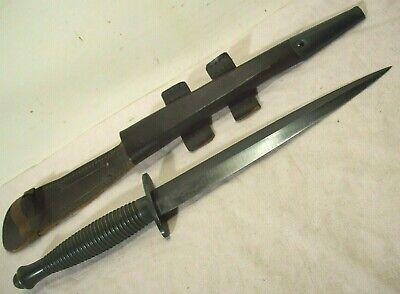WWII~FAIRBAIRN SYKES~UNUSED~BRITISH COMMANDO 3RD FIGHTING KNIFE w/ORIG. SHEATH~