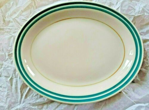 """Southern Railway System 9"""" Oval Platter STERLING Vitrified East Liverpool Ohio"""