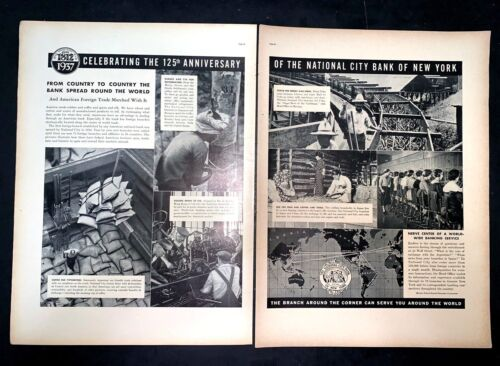 Life Magazine Ad NATIONAL CITY BANK OF NEW YORK 1937 AD Cover A2