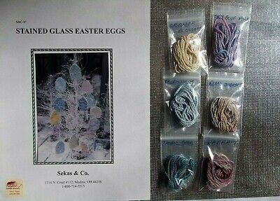 Stained Glass Cross Craft (Sekas & Co. - STAINED GLASS EASTER EGGS  - Cross Stitch)