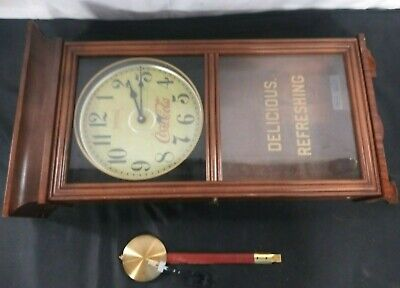 VINTAGE COCA-COLA CLOCK (UNTESTED- FOR PARTS ONLY)