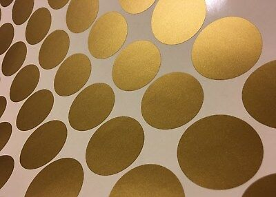 """50ct 2"""" Peel And Stick Polka Dot Circle Wall Decal Sticker ANY COLOR"""
