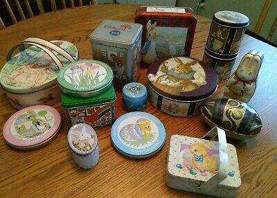 LOT of Vintage Easter Tins Deer Park Chein Potpourri Press Peter Rabbit Schmid !