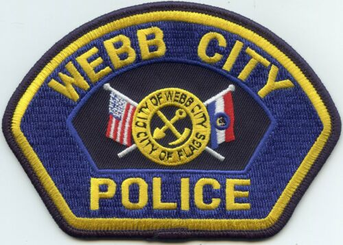 WEBB CITY MISSOURI MO City of Flags POLICE PATCH