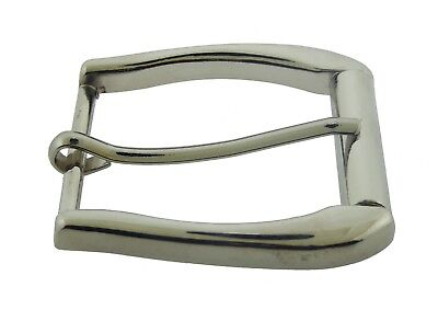"Prong Pin Belt Buckle 1 1/2"" (38 mm) Silver Metal Leather Strap horseshoe Rodeo"