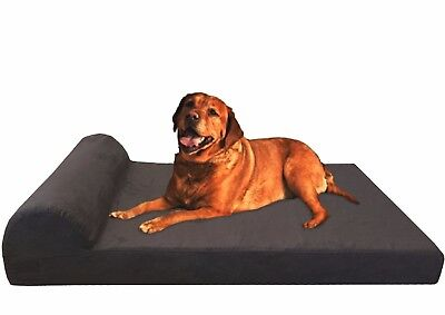 Orthopedic Waterproof Memory Foam Pet Bed Large to Extra Large XL Dogs Head