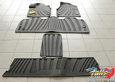 2017 2018 Chrysler Pacifica Front 3 Rows All Weather Slush Floor Mat Set Oem Ebay