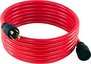 30 Amp 20 FT NEMA L14-30 4 Wire 10 Gauge 125/250V Generator Power Cord 20601-020