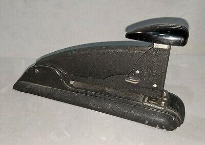 Cool Vintage Art Deco Style Stapler - Speed Products - Black Metal - Works Great