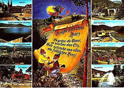 Grüße aus dem Harz ,Ansichtskarte