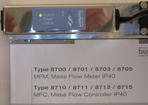 Burkert 8713 Mass Flow Controller (MFC) - 50.0 SLPM 30 barg
