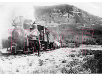 Motor Car with Crew /& Passengers 8x10 Photo URY Uintah Railway
