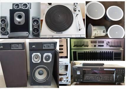 JBL ,B & O,NAD, Technics, Speakers,Amps, Turntable, Sub