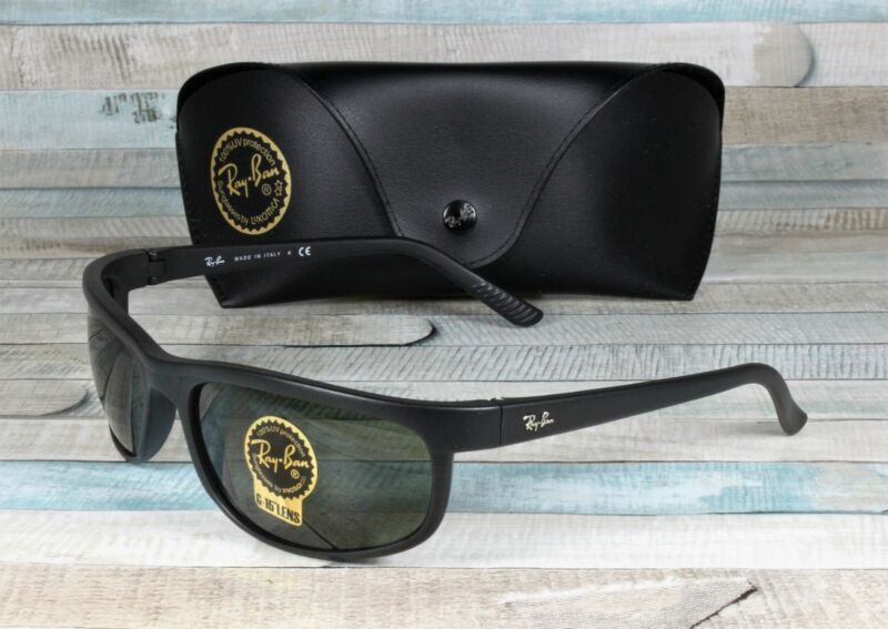 RAY BAN RB2027 W1847 Predator 2 Matte Black Crystal Green 62 mm Men