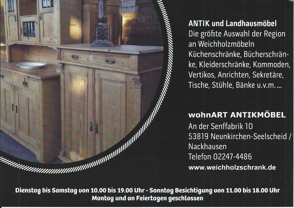 ★ ANTIK ★Bibliotheksschrank Apothekerschrank ★ Weichholz original in Neunkirchen-Seelscheid