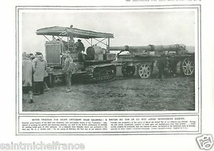 "Motor Traction Artillery Thessaloniki British Army / Navy WWI 14 18 PLANCHE 1916 - Aubigny lès Sombernon, France métropolitaine - PORT GRATUIT A PARTIR DE 4 OBJETS BUY 4 ITEMS AND WORLDWIDE SHIPPING IS FREE EXCEPT USA, CANADA, AMERICA ONLY TRACKING MAIL PLANCHE 1916 RECTO-VERSO ETAT VOIR PHOTO FORMAT 28 CM X 20 CM SIZE : 11.02"" X 7.87 - Aubigny lès Sombernon, France métropolitaine"