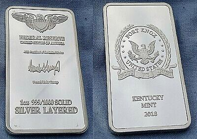 Fort Knox Silver Bar US President Donald Trump Signature US Mint Bullion Ingot