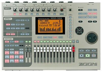 ZOOM MRS-1608 CD MULTI TRACK DIGITAL HARD DRIVE RECORDING STUDIO 16 802 1266 R24 16 Track Hard Disk