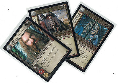 Lord of the Rings CCG Fellowship: 3x Rare Cards   freie Auswahl    Lot