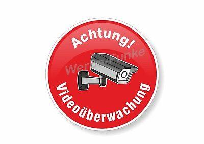 "10 Aufkleber "" Achtung Videoüberwachung "" 100 mm Kameraüberwachung video"