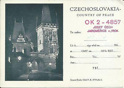 OLD VINTAGE OK2-4857 CZECHOSLOVAKIA AMATEUR RADIO QSL CARD