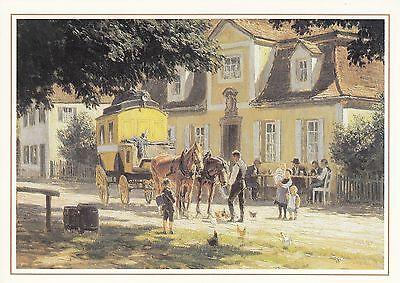 Ansichtskarte - Mittagsrast vor Bayerischen Poststation um 1910