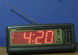 Timex TX223B LED Digital Alarm Clock AM / FM / Weather Radio