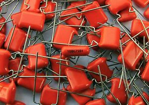 100 pcs MKT 368 100nF 250V tropical fish alike capacitors Philips 0,1uF MKT368 - Italia - 100 pcs MKT 368 100nF 250V tropical fish alike capacitors Philips 0,1uF MKT368 - Italia