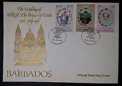 Barbados 1981 Royal Wedding FDC Diana Charles bouquet flowers (NoL254)