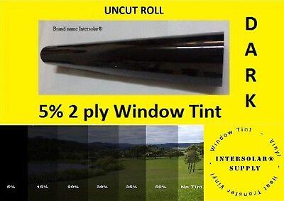 "05 % Uncut 60""x 10 Feet Window Tint Film 2 ply 10 yrs warranty Intersolar® USA"