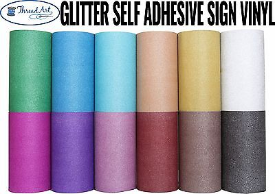 12  Glitter Self Adhesive Sign Vinyl By The Yd  12 Colors Craft Cricut Cutter