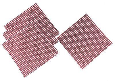 Red and White Check Gingham Fabric Napkins, Set of 4 Gingham Checks, Serviette