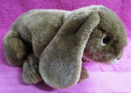 "Toys R Us Animal Alley Bunny Rabbit Brown Tan Realistic Plush 14"""