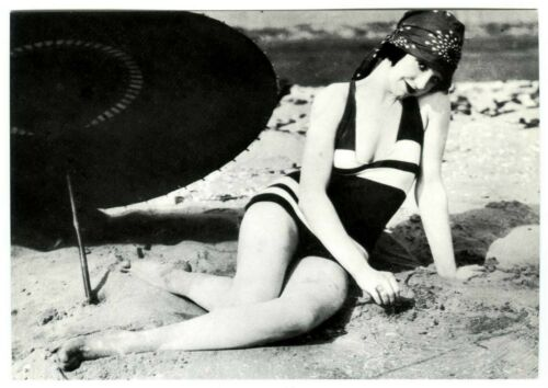 1920s VINTAGE MACK SENNETT BATHING BEAUTY BEAUTIFUL PINUP GIRL~NEW 1974 POSTCARD