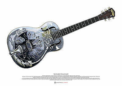 Mark Knopfler's National Style 0 resonator guitar ART POSTER A2 size