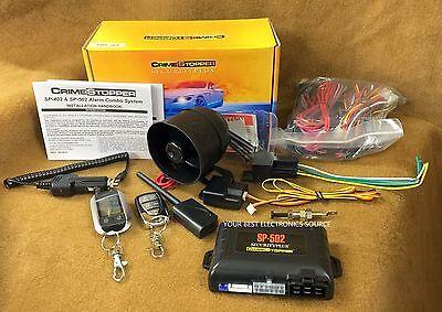 NEW Crimestopper SP-502 2-Way Car Alarm w/ Remote Start, Keyless Entry SP502