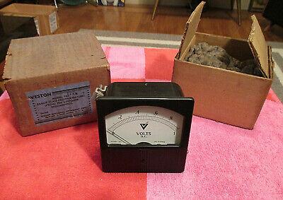 Vintage Weston Model 741 D.c. Volts Scale Panel Meter Nosnib