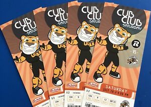 4 Hamilton Tiger-Cats Tickets behind the Home bench