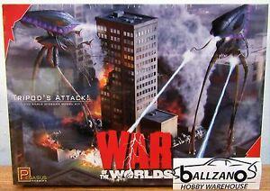 Pegasus 9006 2005 War of the Worlds Tripods Attack Diorama model kit 1/350