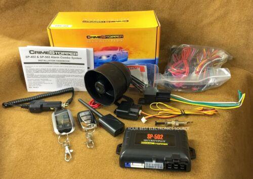 NEW Crimestopper SP-502 2-Way Car Alarm / Remote Start w/ Two Remotes
