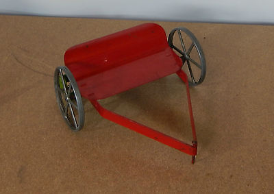 Vintage Mettoy Tinplate Farm mower trailer Tractor Accesory v2 lft