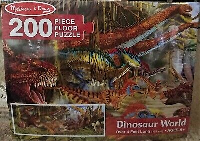 Melissa & Doug Dinosaur World 200 piece Floor Puzzle #8908 BRAND NEW AND SEALED  Melissa & Doug Toys Dinosaur Floor Puzzle